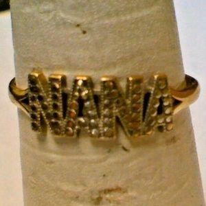 10K Yellow Gold NANA Fashion Word Ring 0.7 Gram